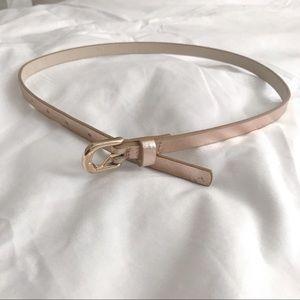 Rose gold metallic belt